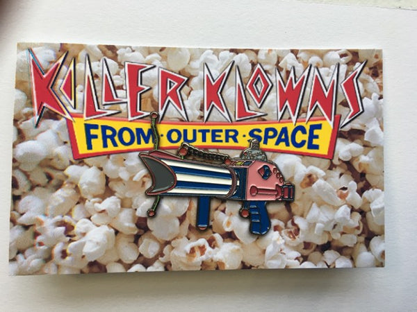 Killer Klown Popcorn Gun Enamel Pin