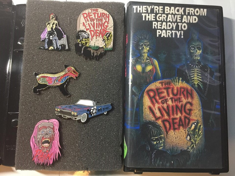 Return of the Living Dead 5 Pin Set With Clamshell
