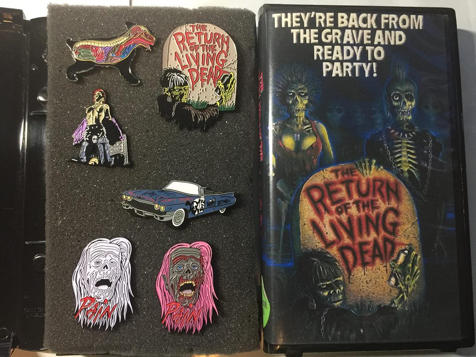 Return of the Living Dead 6 Pin Set With Clamshell