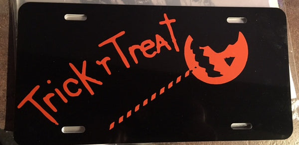 Trick r Treat License Plate