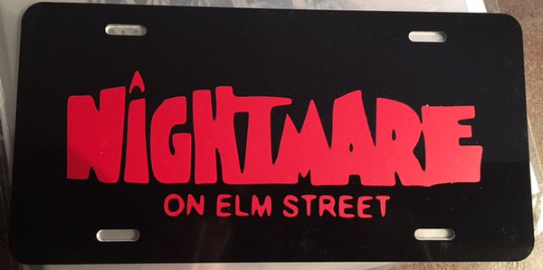 NOES Nightmare on Elm Street License Plate
