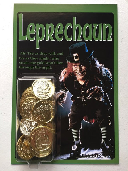 Leprechaun Gold Coin Retro Style Custom
