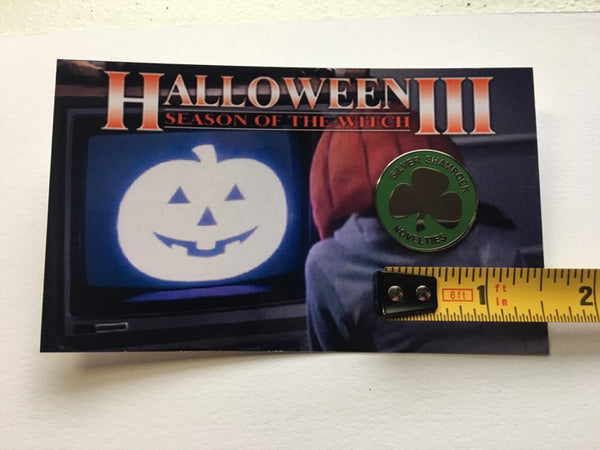 Halloween III Silver Shamrock Novelty Enamel Pin