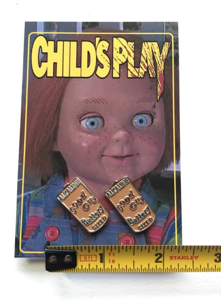 Childs Play Good Guy Battery Enamel Pins