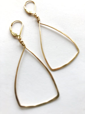 Triangle Earrings in 14K GF
