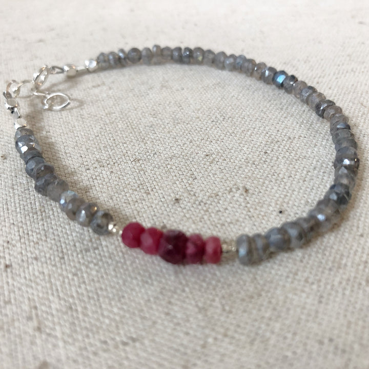 Splash of Ruby Bracelet