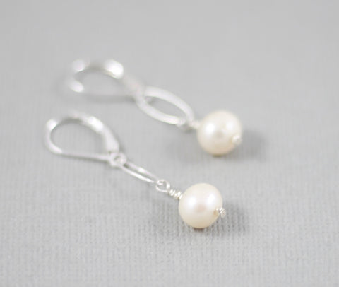 """Classic"" Pearl Earrings"