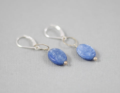 Kyanite Oval Earrings