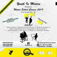 The Gents Club South Africa- Mr. Commonwealth & Youth In Motion Flyer