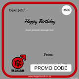 The Gents Club South Africa Men's Happy Birthday Gift Card