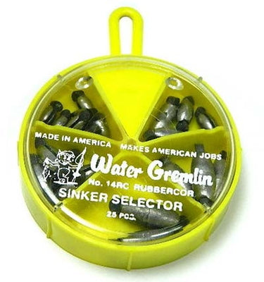 Water Gremlin rubber core weights 25 pieces