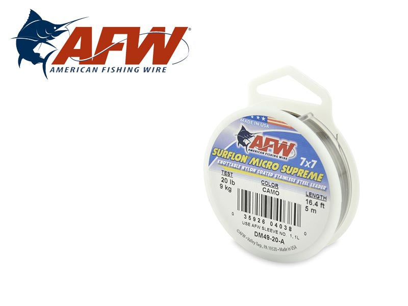 AFW Surflon Micro Supreme - Nylon Coated 7X7 Stainless Leader