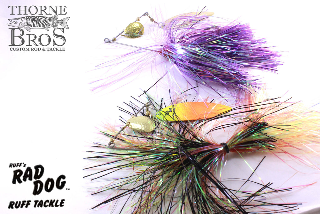 Ruff Tackle Tinsel Dog Tandem Spinnerbait 1-3/4oz