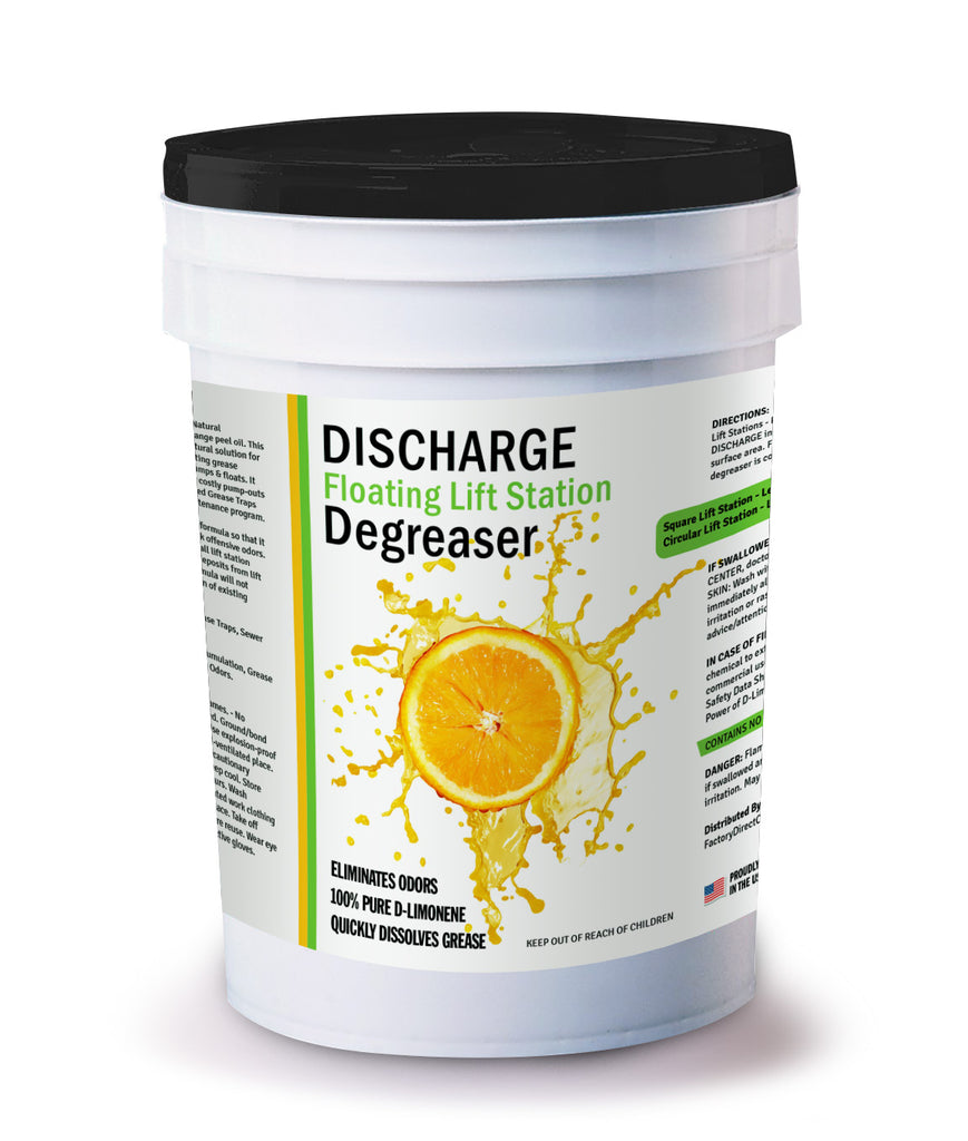 FLOATING LIFT STATION DEGREASER - 100% PURE ORANGE OIL (D-LIMONENE)