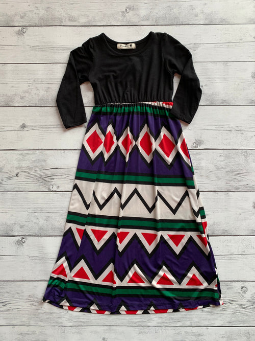 Aztec Geo Girls Dress