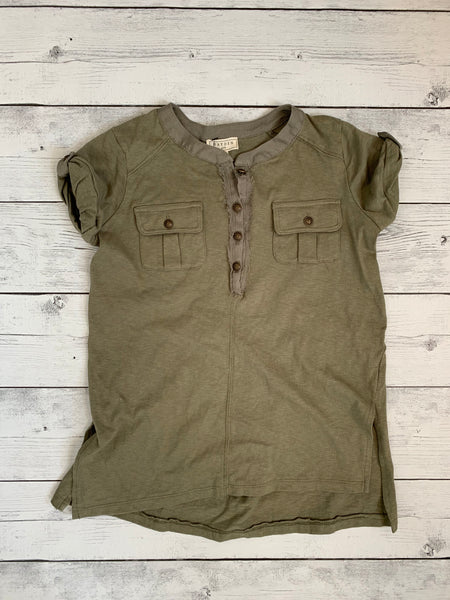 Olive Button Girls Tee