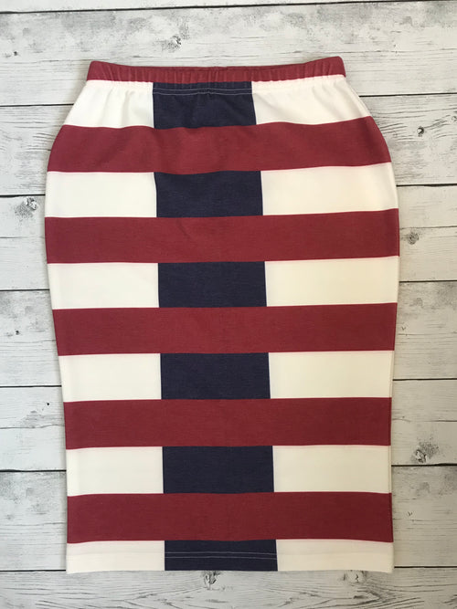 Rugby Stripe Skirt
