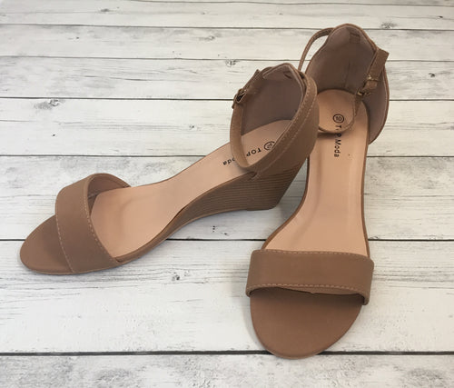 Beige Wedge Sandal