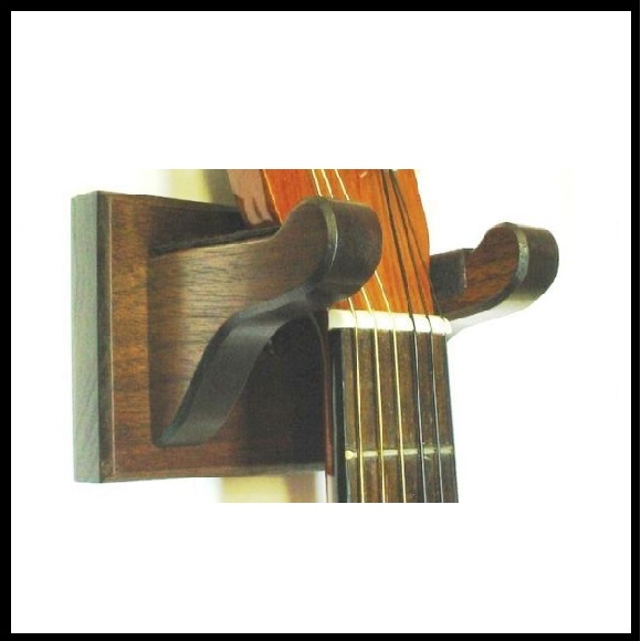 Wooden Guitar Hangers Ukulele, Banjo, & Violin Displays