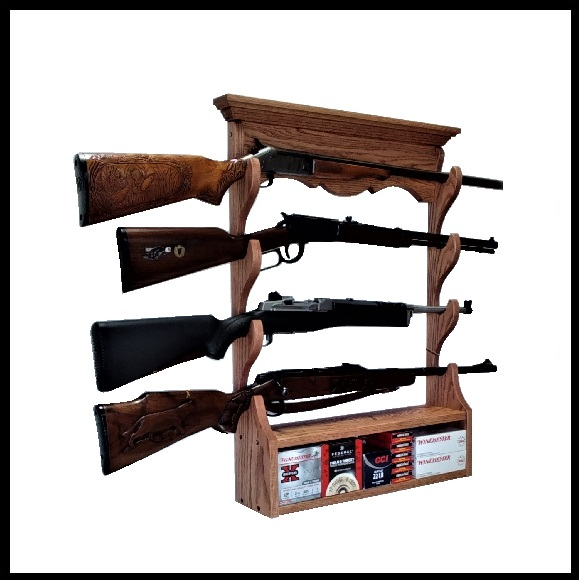 Oak Wall Gun Racks