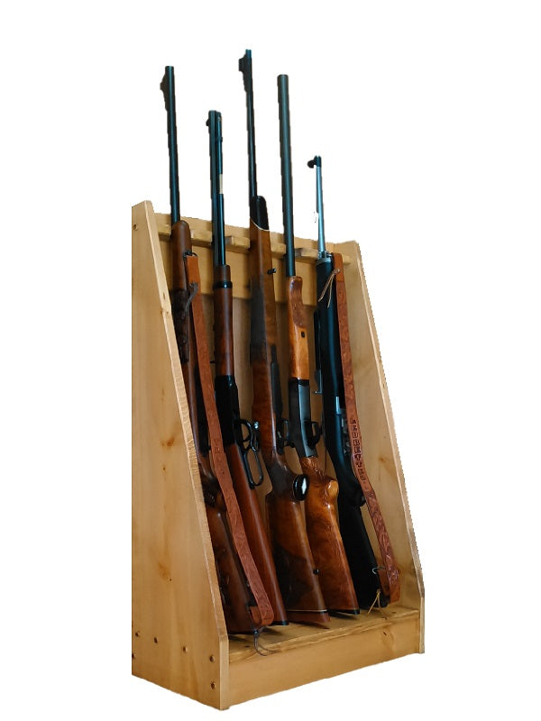 Gun Racks For less Light Rustic 5 Place Vertical Gun Rack