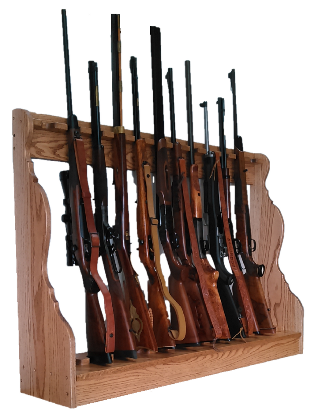 Gun Racks For Less Oak 12 Place Vertical Gun Rack