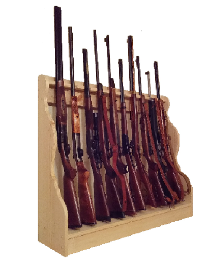 Gun Racks For Less Pine 12 Place Vertical Gun Rack