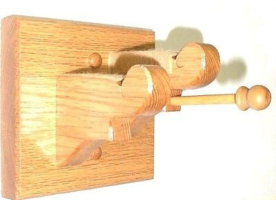 Oak Wooden Violin & Bow Hanger Wall Mount Display