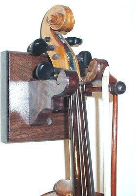 Cherry Wooden Violin & Bow Hanger Wall Mount Display