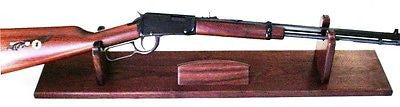 Walnut Wooden Gun Rack Stand Rifle Shotgun Presentation Table Display