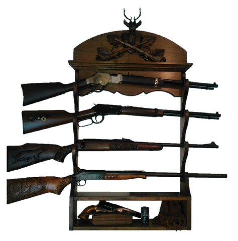 Gun Racks For Less Black Forest Carved 4 Gun Rack
