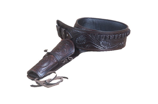 Western Tooled Leather Gun Holster .44/.45 Caliber - Choice of Color