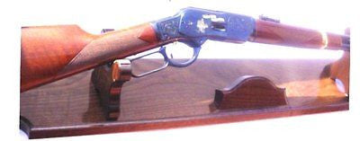 Walnut Wood Gun Rack Stand Antique Rifle Shotgun Presentation Display