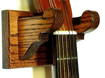 Oak Guitar Hanger by Gun Racks For Less