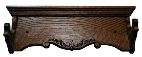 Oak Carved Heritage Rack by Gun Racks For Less