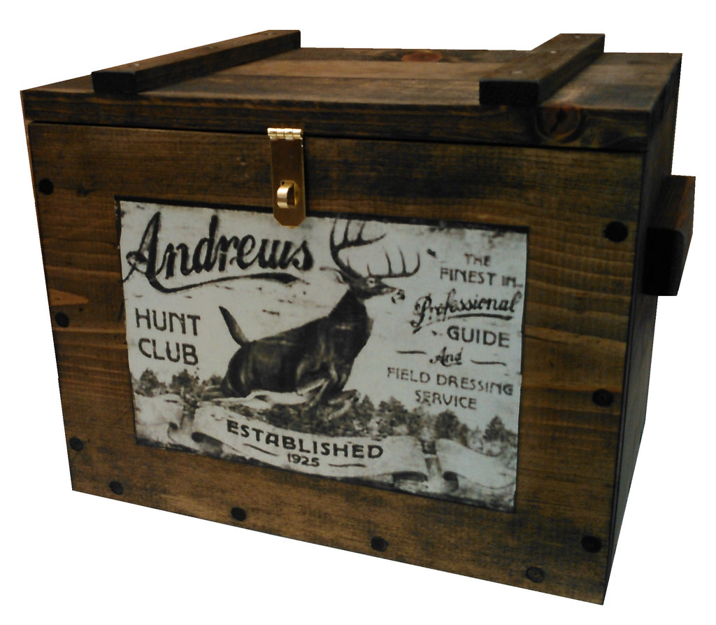 Gun Racks For Less Rustic Wooden Ammo Box