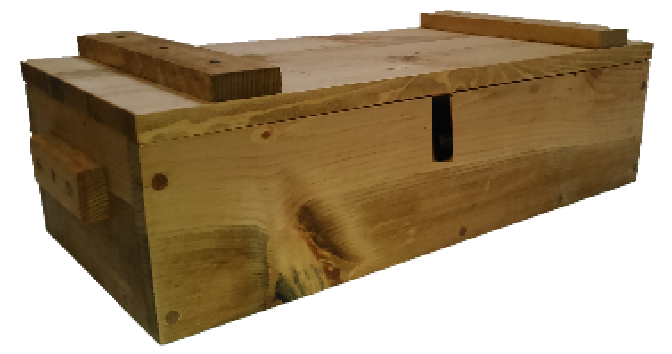 Light Rustic Wooden Ammo Box - Tactical Gun Accessories Storage Crate