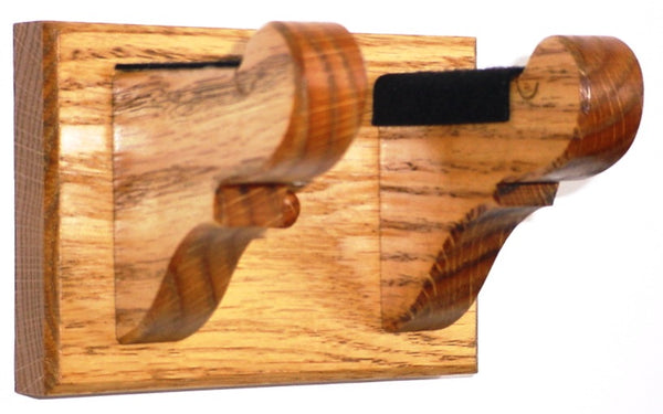 Oak Wooden Guitar Hanger Classy Wall Mount Display