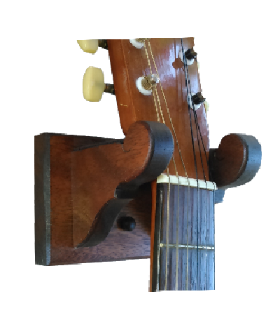 Mahogany Wooden Guitar Hanger Classy Wall Mount Display