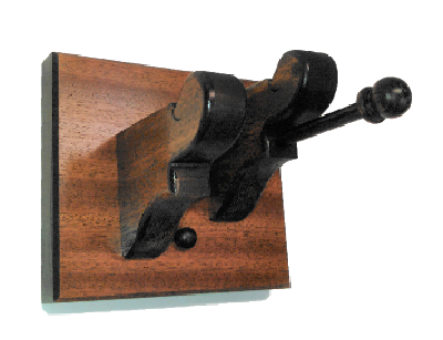 Mahogany Wooden Violin & Bow Hanger Wall Mount Display