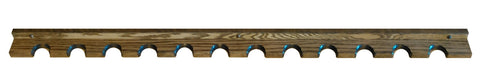 Oak Wooden Wall Gun Rack Barrel Rests Vertical Closet Storage - 6-12 Spaces