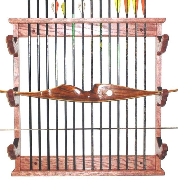 Gun Racks For Less Oak 3 Place Bow Rack