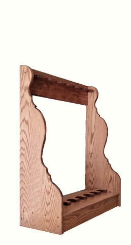 Oak Wooden Vertical Gun Rack 5 Place Long Gun Display