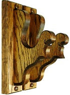Oak Wooden Gun Rack Hangers Antique Rifle Shotgun Sword Fancy Wall Display