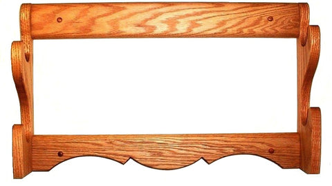 Oak 2 Place Gun Rack by Gun Racks For Less