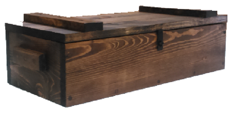 Rustic Wooden Ammo Box - Tactical Gun Accessories Storage Crate