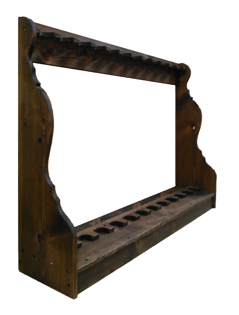 Rustic Vertical 10 Place Rifle Storage by Gun Racks For Less