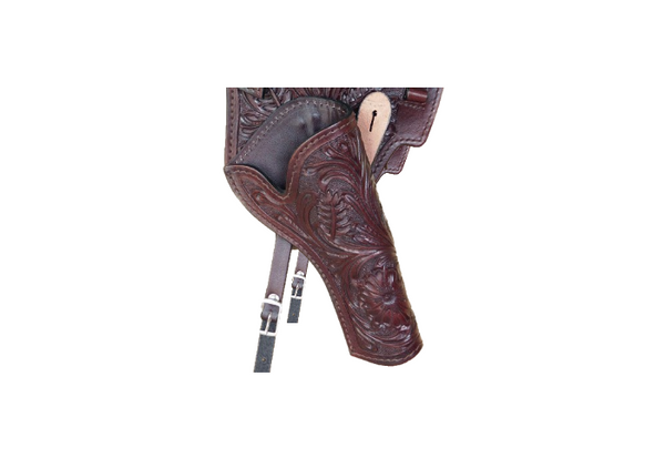 Western Leather Shoulder Rig Gun Holster 44/45 Caliber