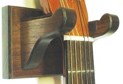 Walnut Wooden Banjo Hanger Wall Mount Display