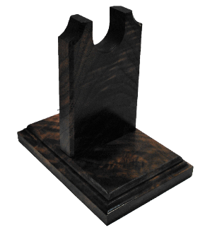 Walnut Burl Wood Gun Rack Revolver Handgun Pistol Stand Display